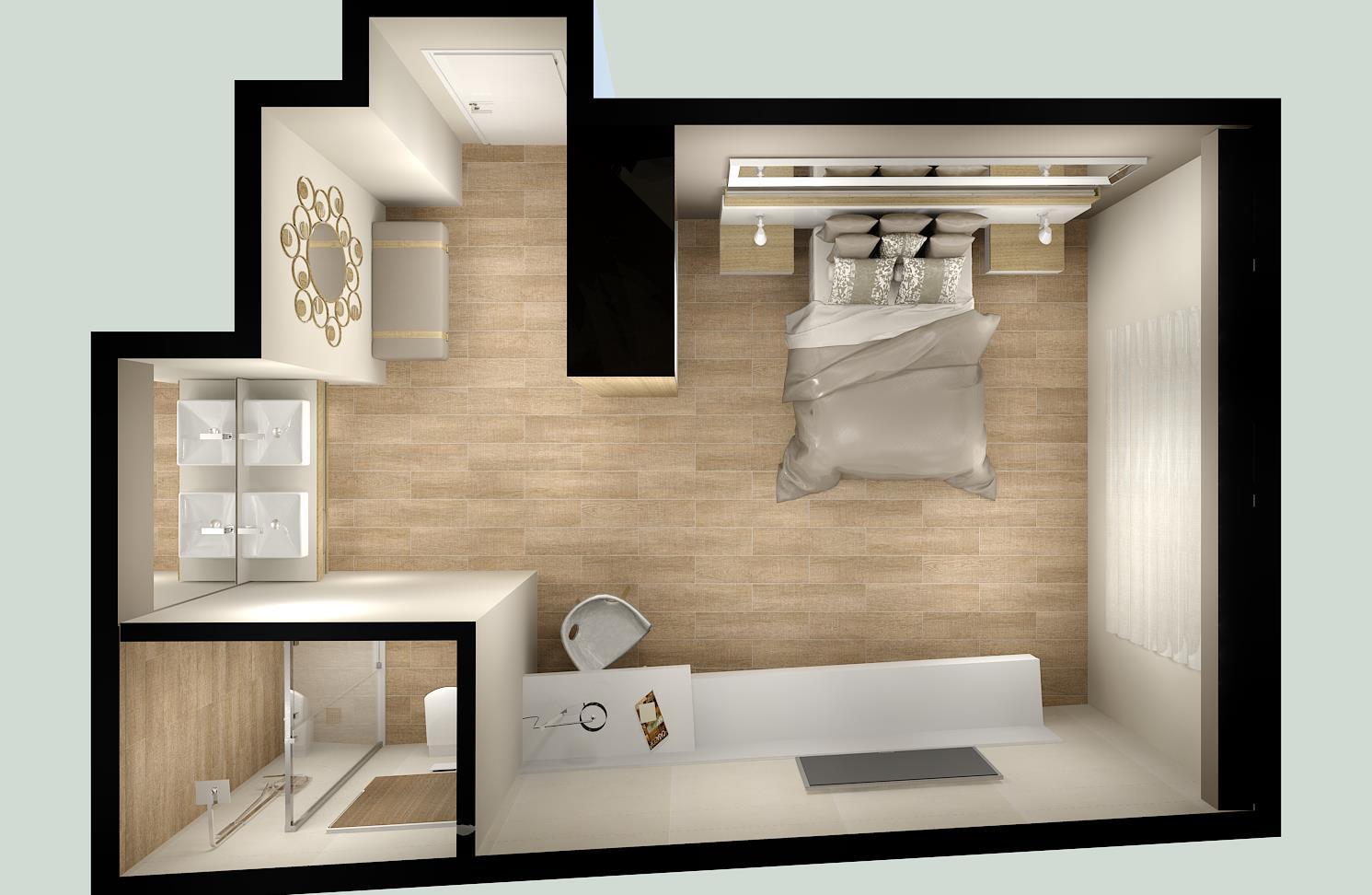 proyecto habitacion suite con ba o emagres s l. Black Bedroom Furniture Sets. Home Design Ideas