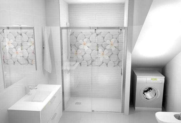 Proyecto baño bajo cubierta