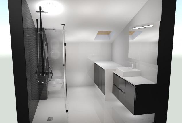 reforma y diseño de baño bajo cubierta ourense