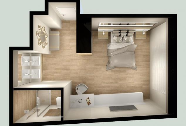 proyecto suite con baño
